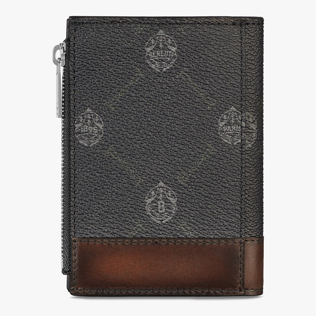 Périple Canvas And Leather Wallet, BLACK + TDM INTENSO, hi-res