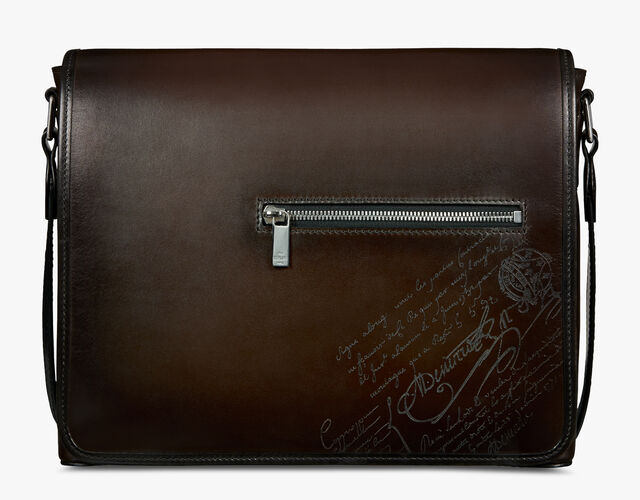 Everyday Leather Scritto Swipe Messenger, ICE BLACK, hi-res