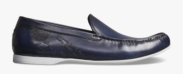 Leandro Bari Calf Leather Loafer, BLU PROFONDO, hi-res