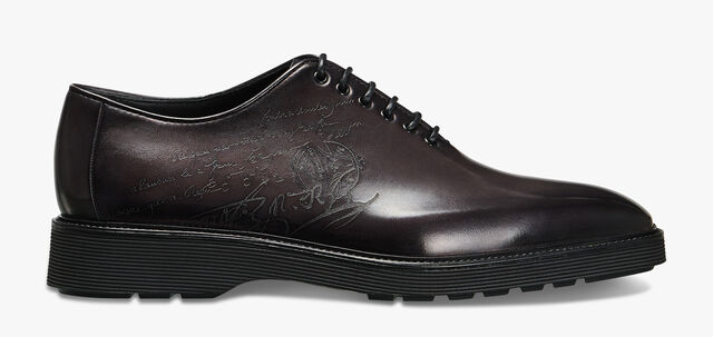Spada Demesure Scritto Calf Leather Oxford, DEEP BLACK, hi-res