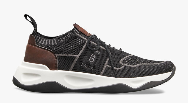 Sneaker Shadow En Maille Et Cuir , BLACK, hi-res