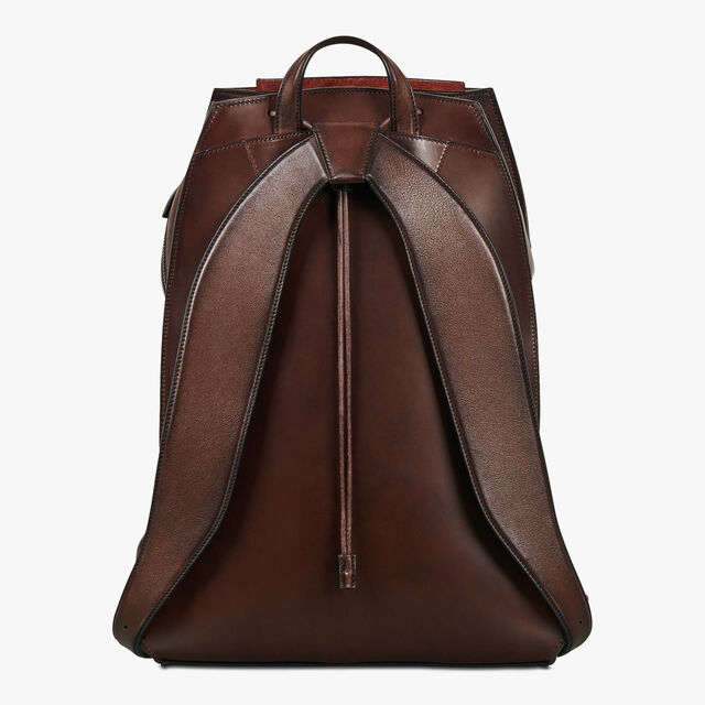 Alessandro Medium Leather Backpack, BRUN, hi-res