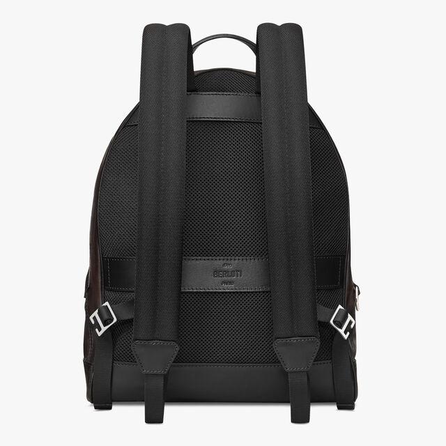Explorer Medium Leather Backpack, ICE BLACK, hi-res