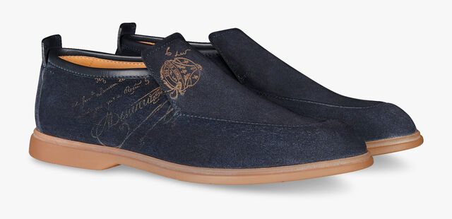 Latitude Suede Leather Mid-Cut Loafer, NIGHT BLU, hi-res