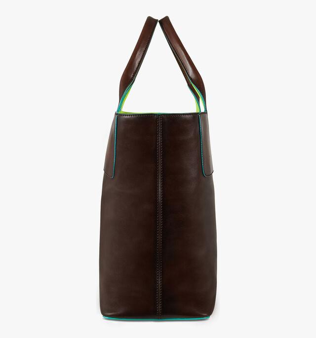 Beach Leather Tote Bag, BRUN+YELLOW, hi-res