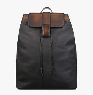 Horizon Mini Leather Backpack, NERO, hi-res