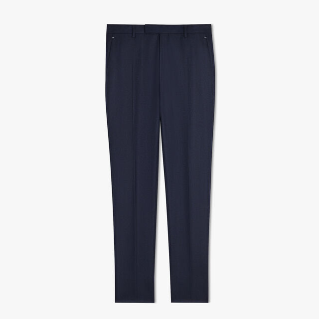 Wool & Cashmere Herringbone Tailoring Trousers, PLEIADES BLUE, hi-res