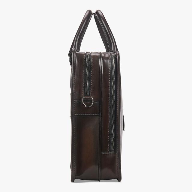 Deux Jours Scritto Leather Briefcase, TDM SCURO, hi-res