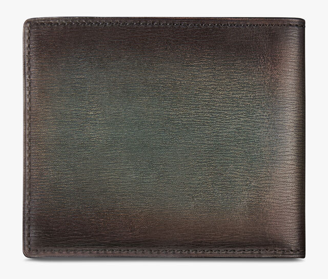 Makore Embossed Leather Wallet, ICE BROWN, hi-res