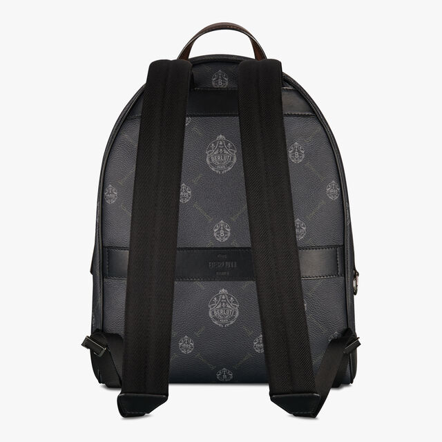 Explorer Medium Canvas And Leather Backpack, BLACK + TDM INTENSO, hi-res