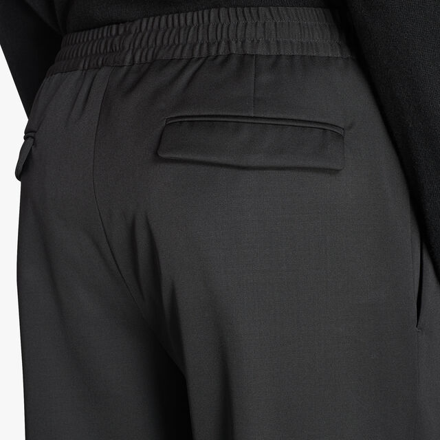 Pantalon De Jogging Ajustable En Laine, NOIR, hi-res