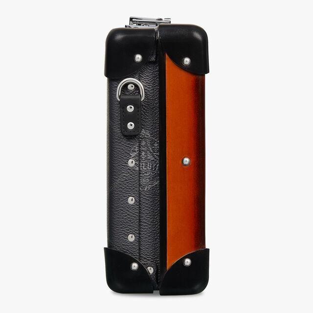 グローブトロッター メッセンジャー ミニ キャンバス&レザー メッセンジャーバッグ, BLACK + TERRACOTTA, hi-res