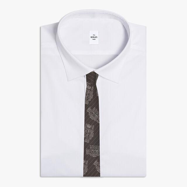 Scritto Striped Tie, DARK CHOCOLATE, hi-res