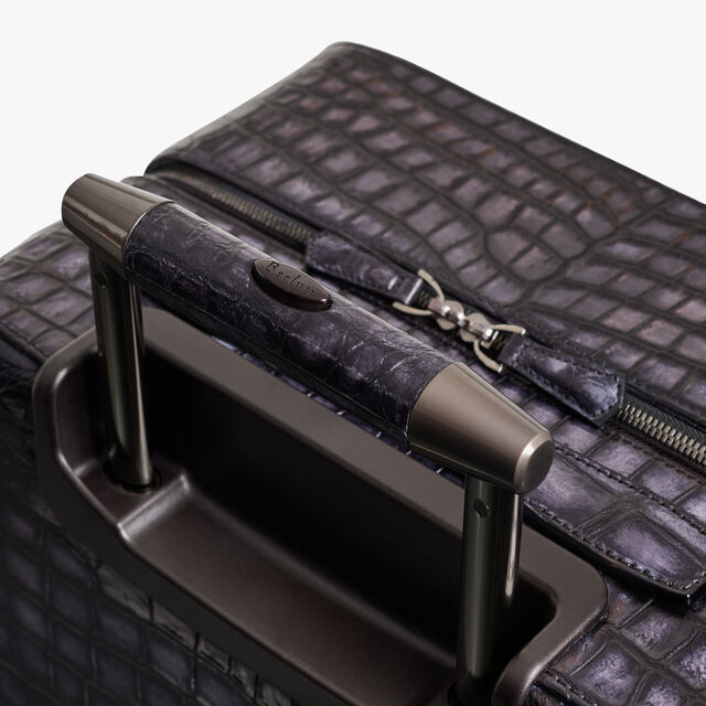 Formula 1004 Alligator Leather Rolling Suitcase, NERO GRIGIO, hi-res