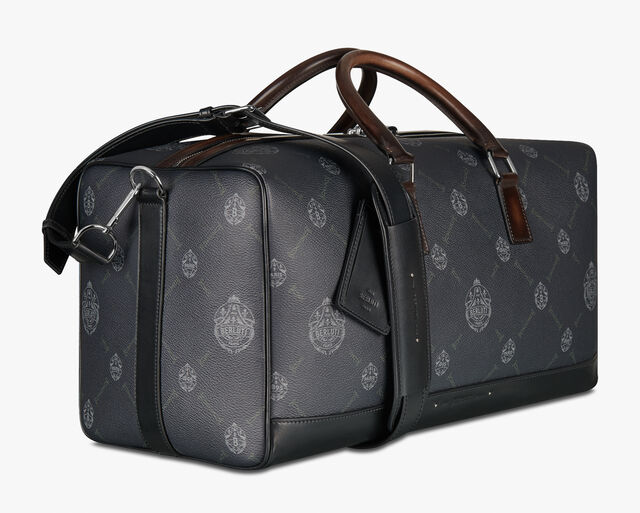Aventure Medium Canvas And Leather Travel Bag, BLACK+TDM INTENSO, hi-res