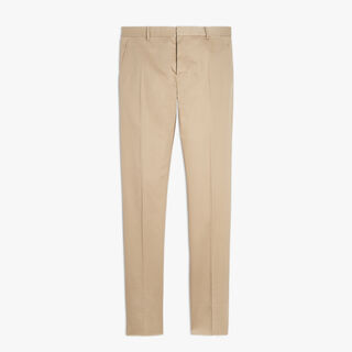 Cotton-Blend Pants, SAND, hi-res