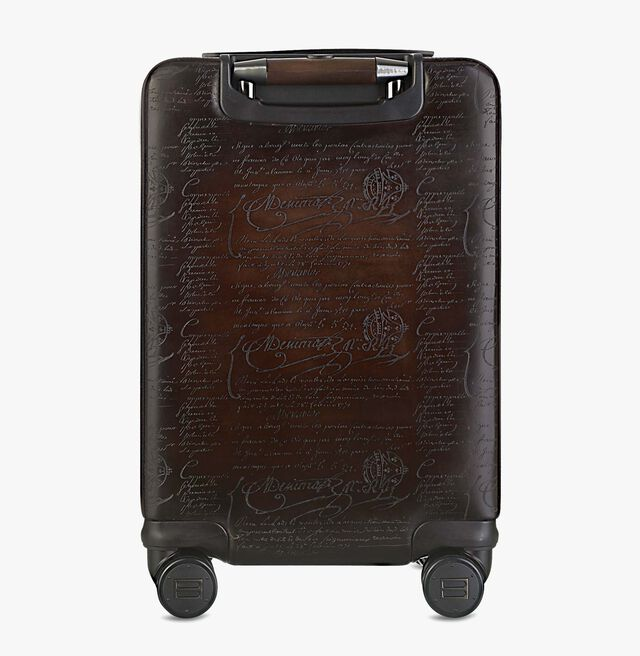 Formula 1004 Scritto Leather Rolling Suitcase, CAFFE, hi-res