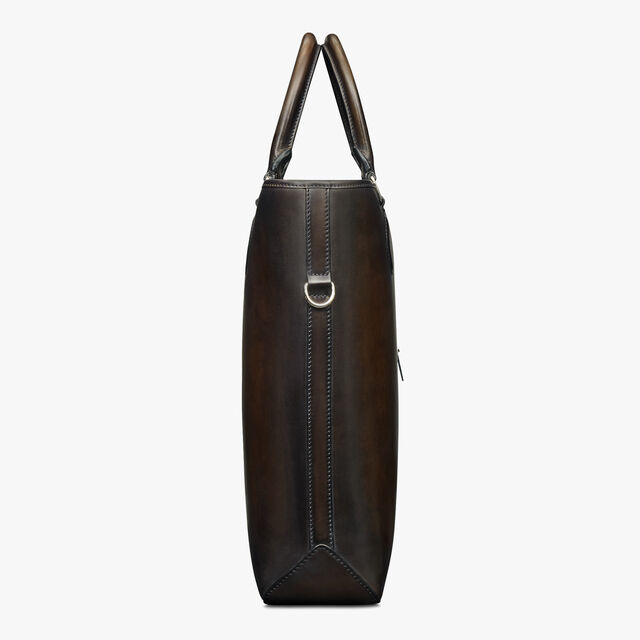 Toujours Vertical Scritto Leather Tote Bag, ICE BLACK, hi-res