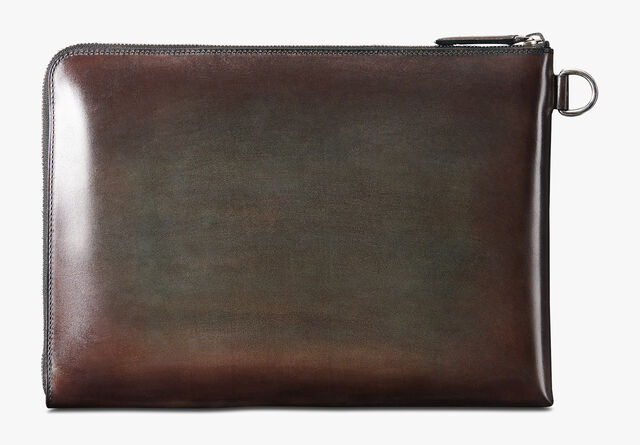 Nino Large Scritto Leather Document Holder, ICE BROWN, hi-res
