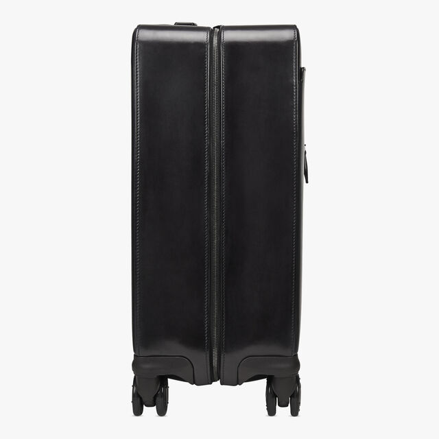 Formula 1004 Leather Rolling Suitcase, DEEP BLACK, hi-res