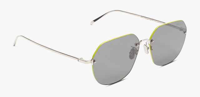 Lunar Rimless Sunglasses, LIME GREEN, hi-res