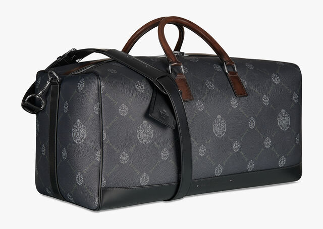 Aventure Large Canvas And Leather Travel Bag, BLACK+TDM INTENSO, hi-res