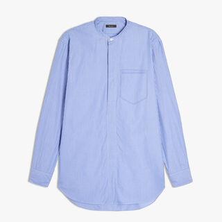 Striped Cotton Shirt, RAYURE IRIS / WHITE, hi-res