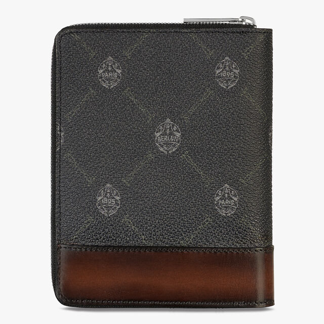 Expédition Canvas And Leather Zipped Wallet, BLACK+TDM INTENSO, hi-res
