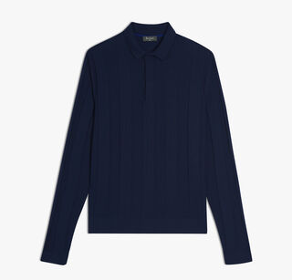 Dyed Wool Polo, BLUE NAVY, hi-res