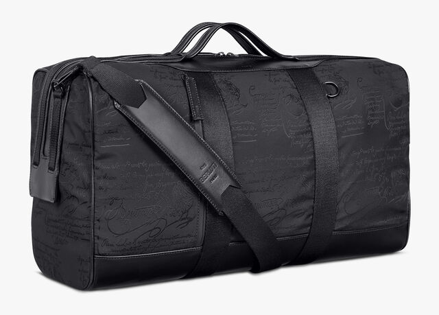 Eclipse Scritto Nylon Travel Bag, NERO, hi-res