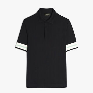 Silk Polo, COSMIC BLACK, hi-res