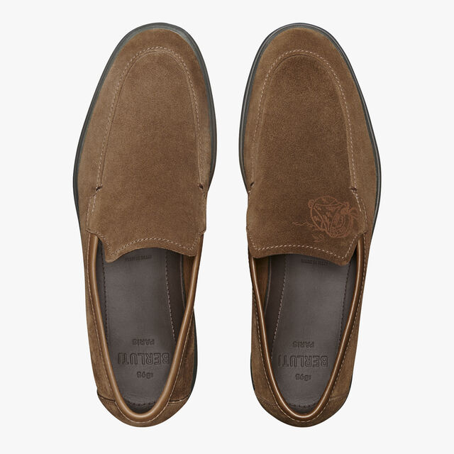 Latitude Suede Leather Loafer, TAUPE, hi-res