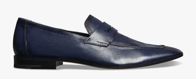 Lorenzo Kangaroo Leather Loafer, NAVY BLU, hi-res