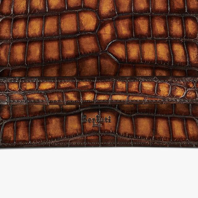 Tersio Alligator Leather Wallet, TOBACCO BIS, hi-res