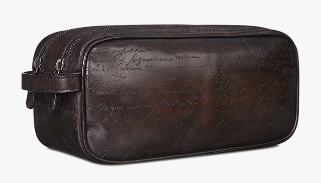 Formula 1003 Scritto Leather Pouch , CAFFE, hi-res