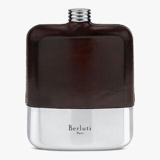 Leather Pocket Hip Flask, MOGANO, hi-res