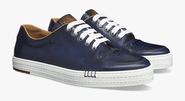 Playtime Palermo Calf Leather Sneaker, METEORITE, hi-res