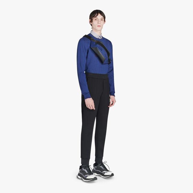 Pantalon De Jogging Ajustable En Jersey - Coupe Regular, NOIR/DARK LEAD, hi-res