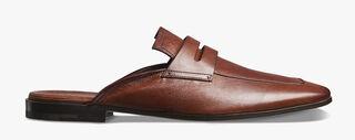 Luciano Rimini袋鼠皮凉拖鞋, TABACCO, hi-res