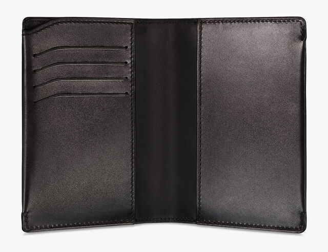Porte-Passeport Escale En Cuir, DEEP BLACK, hi-res