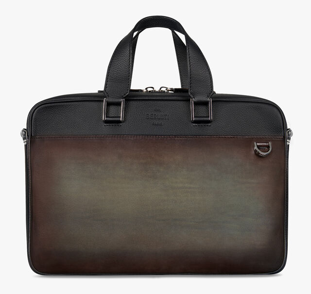 Contraste Leather Briefcase, ICE BROWN, hi-res