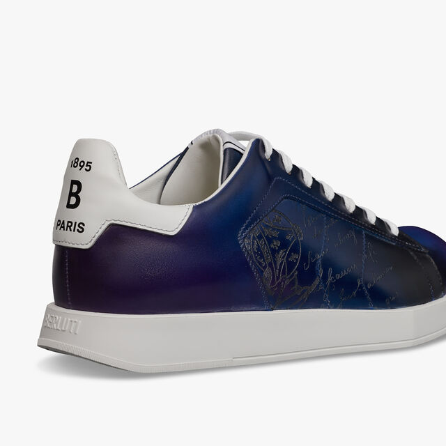 Stellar Scritto Leather Sneaker, CLOUDY SPACE, hi-res