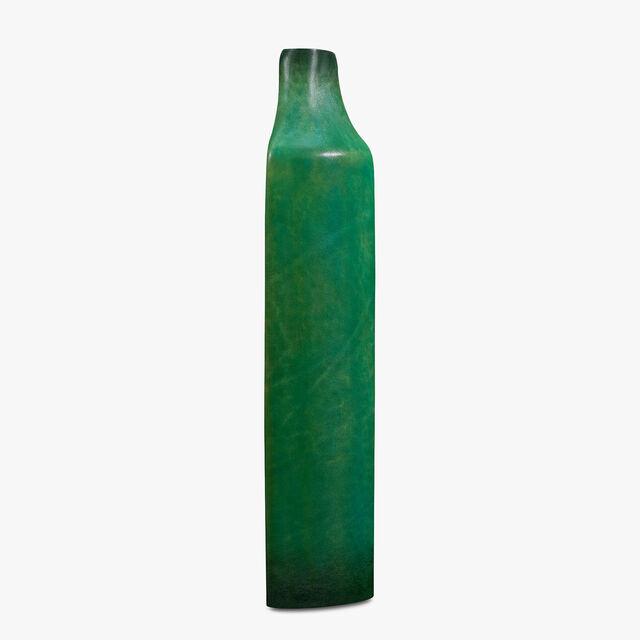 Leather Vase, PINJORE GARDEN GREEN, hi-res