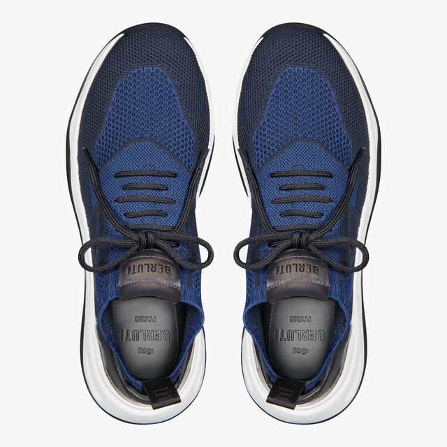 Shadow Knit And Leather Sneaker, BLUE, hi-res