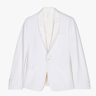 Wool Tuxedo Jacket With Scritto Collar