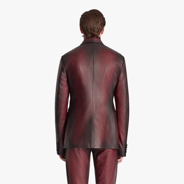 Grain Patina Leather Blazer, SIENNA RED, hi-res