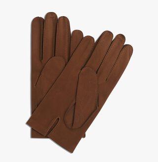 Nubuck Detail Scritto Gloves, CAMEL, hi-res