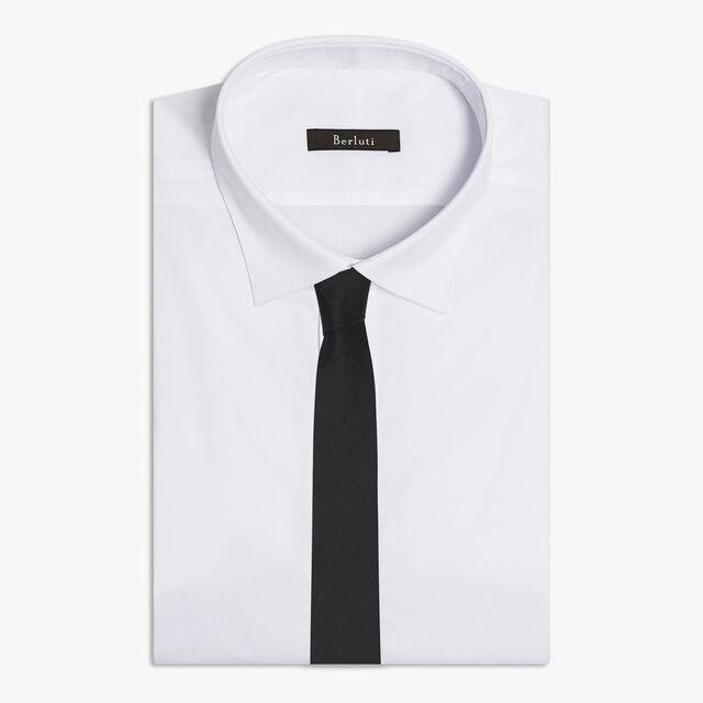 6 cm Scritto Silk Tie, NOIR, hi-res