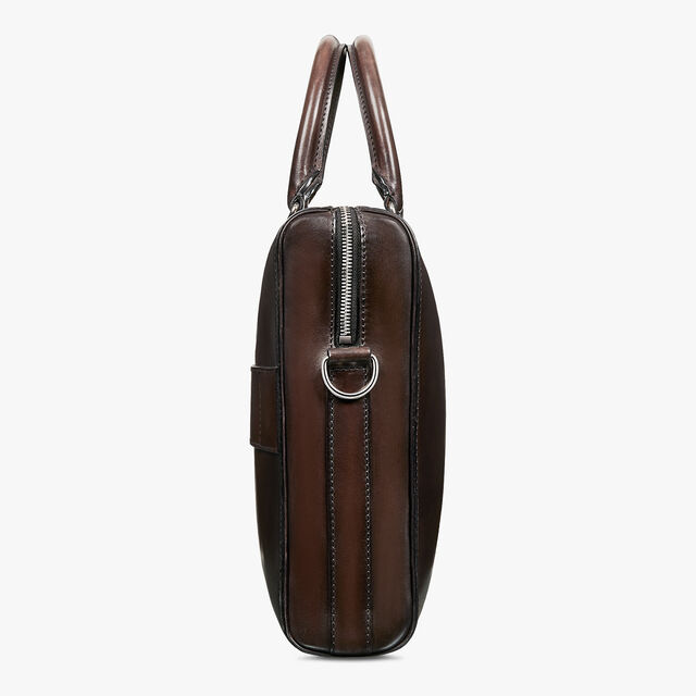 Daily Leather Scritto Swipe Briefcase, ICE BLACK, hi-res