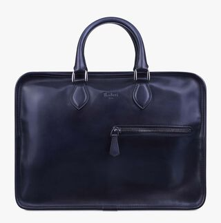 Deux Jours Leather Briefcase, NERO, hi-res